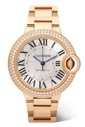 Cartier Ballon Bleu De Automatic 36mm 18-karat Pink Gold And Diamond Watch - Rose gold
