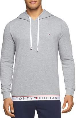 Tommy Hilfiger Logo-Hem Hooded Sweatshirt