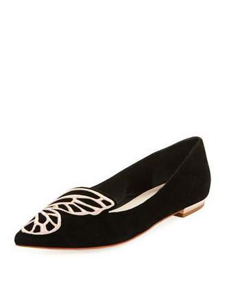 Sophia Webster Bibi Butterfly Embroidered Suede Flat $350 thestylecure.com