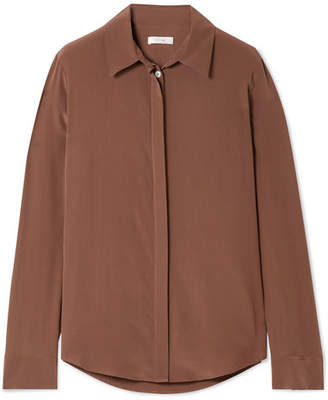 The Row Petah Silk Blouse - Brown