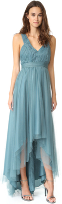 Monique Lhuillier Bridesmaids Tulle High Low Gown $280 thestylecure.com