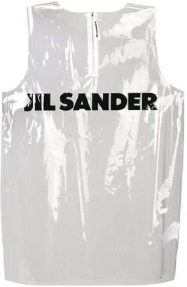 Jil Sander front logo crop top