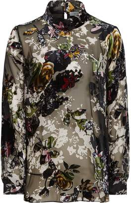 30fbff62c92fd Reiss Tori - Floral Burnout Blouse in Multi