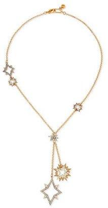 Lulu Frost Nova Long Crystal Star Pendant Necklace $288 thestylecure.com