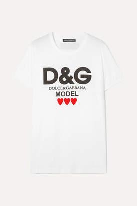 282bbcd8 Dolce & Gabbana Printed Cotton-jersey T-shirt - White