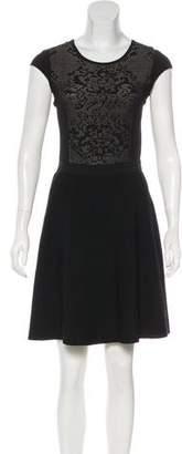 Rebecca Taylor Jacquard A-Line Dress
