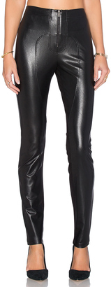 BCBGMAXAZRIA Sayer Faux Leather Moto Legging $158 thestylecure.com