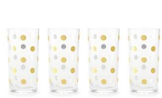 Kate Spade Gold Dot Set Of 4 Highball Glasses