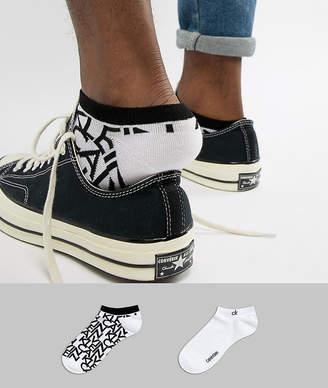 Calvin Klein Sneaker Socks 2 Pack with Logo