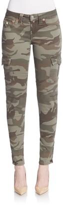 True Religion Camo-Print Skinny Cargo Pants