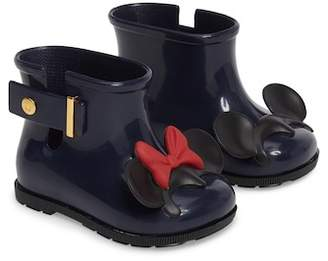 Mini Melissa Sugar Rain Disney Twins Waterproof Bootie (Walker & Toddler)