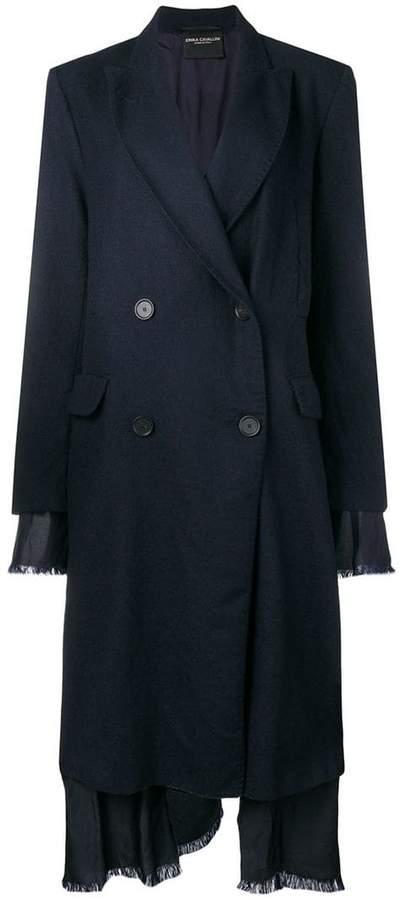 Erika layered double breasted coat