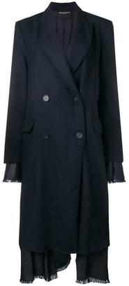 Cavallini Erika layered double breasted coat