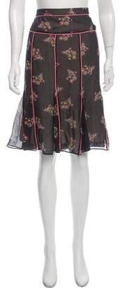 Marc Jacobs Printed Silk Skirt
