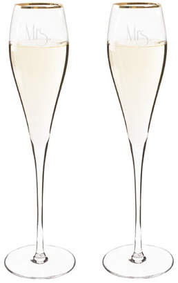Cathy's Concepts Cathys Concepts Mrs. & Mrs. Gatsby Champagne Flute Glass