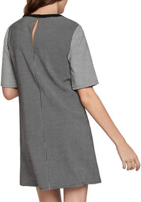 BCBGeneration Illusion Neck Patterned Shift Dress