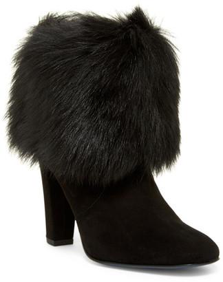 Delman Lexie Genuine Calf Hair Cuff Boot $498 thestylecure.com
