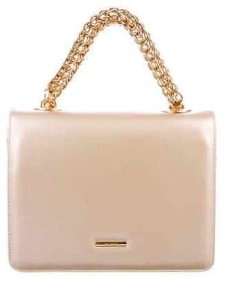 St. John Leather Flap Handle Bag
