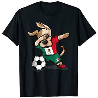 Dog Dabbing Soccer Boy Mexico Jersey Shirt Mexican Football