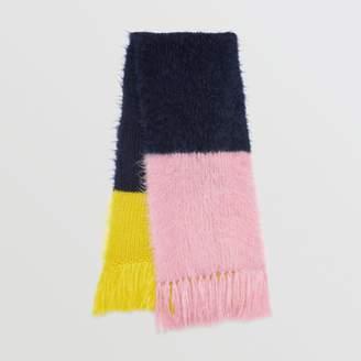 Burberry Colour Block Mohair Silk Oversized Scarf