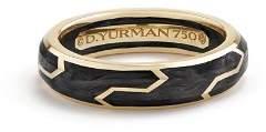 David Yurman Men's Forged Carbon Band Ring in 18K Gold
