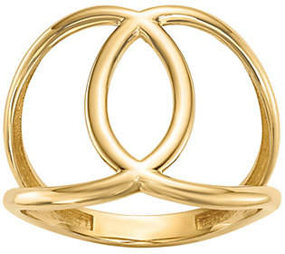 QVC 14K Gold Interlocking Circle Ring