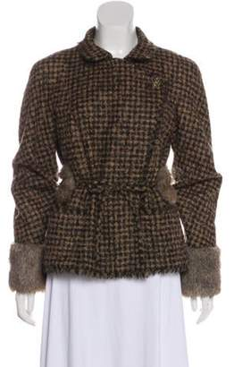 Chanel Fantasy Fur-Trimmed Structured Jacket Brown Fantasy Fur-Trimmed Structured Jacket
