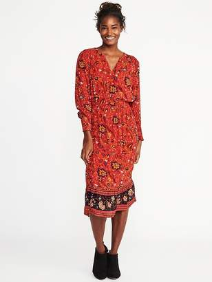 Old Navy Floral Smocked-Waist Midi Dress for Women