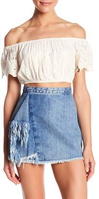 Young Fabulous & Broke YFB by Flirt Eyelet Lace Top