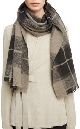 Rick Owens Plaid Wool & Cashmere Blend Scarf