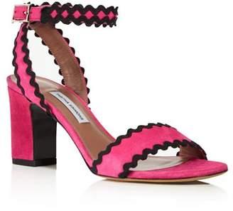 Tabitha Simmons Leticia Suede Ric Rac High-Heel Sandals