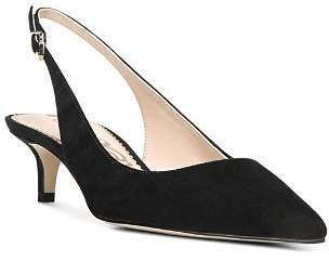 Sam Edelman Women's Ludlow Suede Slingback Kitten Heel Pumps