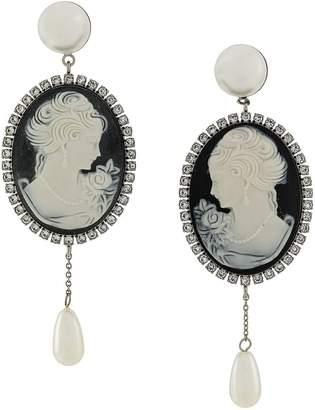 Miu Miu cameo clip-on earrings