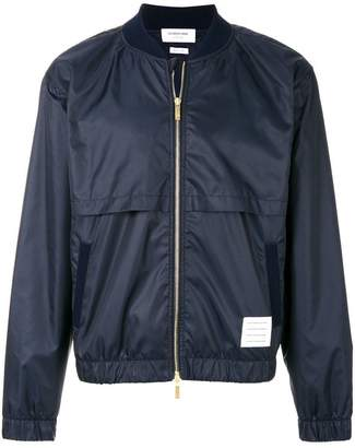 Thom Browne Bomber With Vents And Mesh Center Back Stripe In Ripstop