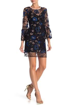 ABS by Allen Schwartz Blaire Embroidered Lace Shift Dress