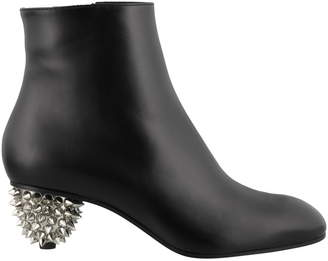 Alexander McQueen Ankle Boots With Heel Detail