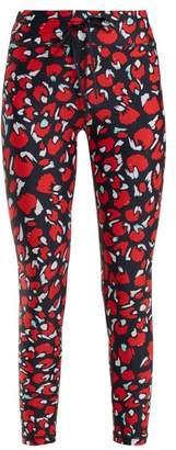 The Upside Paintbox Print Cropped Leggings - Womens - Red Print