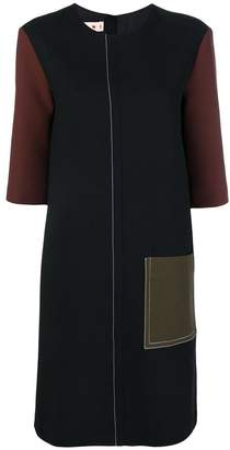 Marni colour-block shift dress