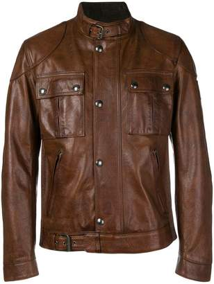 Belstaff button-up leather jacket