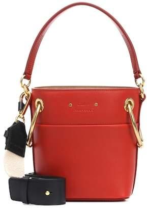 Chloé Mini Roy leather bucket bag