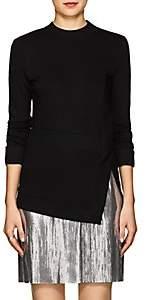 Paco Rabanne Women's Rib-Knit-Inset Stretch-Jersey Top - Black