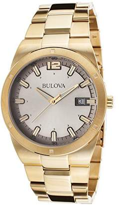 Bulova Men's Precisionist Gold-Tone Stainless Steel Silver-Tone Dial
