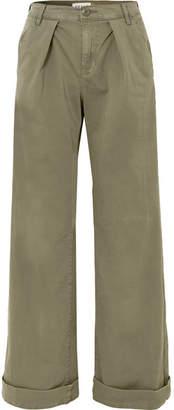 Frame Le Service Cotton-blend Wide-leg Pants