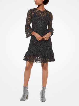 MICHAEL Michael Kors Metallic Corded Lace Dress