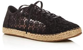 Toms Women's Lena Embroidered Mesh Lace Up Espadrille Sneakers