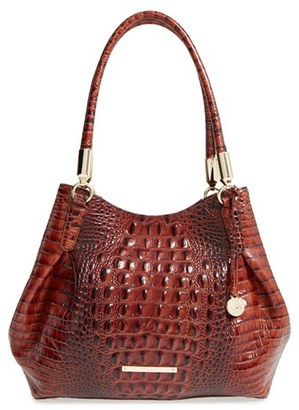 Brahmin 'Judith' Croc Embossed Leather Hobo - Brown $355 thestylecure.com
