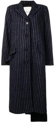 Walk Of Shame long pinstripe coat