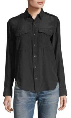 Mother Casual Silk Button-Down shirt