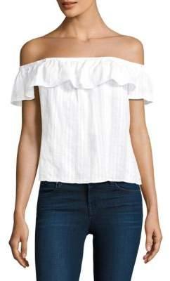 Bella Dahl Cotton Ruffled Top