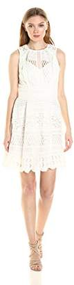 Adelyn Rae Women's Lace Fit and Flare Dress